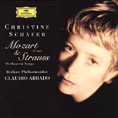 Mozart: Arias;  Strauss: Orchestral Songs / Schäfer, Abbado