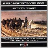 Beethoven: Piano Concerto no 5;  Chopin / Michelangeli, etc
