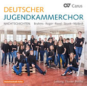 Choral Music - 'Nachtschichten', Works by Brahms, Reger, Ravel, Sisask, Nystedt / German National Youth Choir