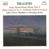 Brahms: Four Hand Piano Music Vol 9 / Matthies, Köhn