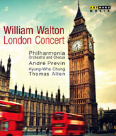 William Walton: Coronation March: Orb and Sceptre; Violin Concerto; Belshazzar's Feast / Thomas Allen, barition  Kyung-Wha Chung, violin (live, Royal Festival Hall, 1982) [Blu-ray]