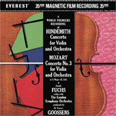 Hindemith, Mozart: Violin Concertos / Fuchs, Goossens, et al