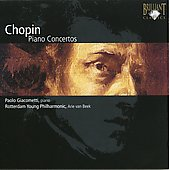 Chopin: Piano Concertos no 1 & 2 / Paolo Giacometti, Arie van Beek, Rotterdam Young Philharmonic Orchestra