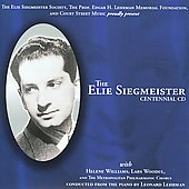 Helene Williams (Soprano Vocal): Music of Elie Siegmeister