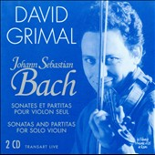Bach: Sonatas and Partitas for Solo Violin / David Grimal, violin