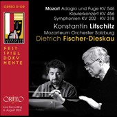 Mozart: Adagio und Fugue K.546; Piano Concerto K.456; Symphonies K.202 & K.318 / Konstantin Lifschitz, piano Salzburg Festival 1972/74