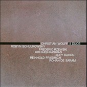 Christian Wolff: 8 Duos / Frederic Rzewski, piano; Joey Baron, percussion; Kim Kashkashian, viola; Reinhold Friedrich, trumpet