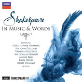 Shakespeare in Music & Words - Music inspired by Shakespeare & highlights from his greatest prose read by Christopher Plummer, John Gielgud & Vanessa Redgrave et al. / Sutherland, Fleming, Terfel, Rieu et al.