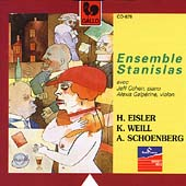 Eisler, Schoenberg, Weill / Ensemble Stanislas