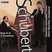 Schubert: Duo in A, 3 Sonatinas / Leertouwer, Reynolds
