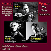 Mozart: Divertimento K 563;  Vivaldi: Four Seasons / Nadien