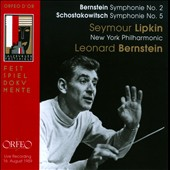 Bernstein: Symphoy no. 2; Shostakovich Symphony No. 5 / Bernstein, live, 1959