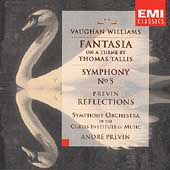 Vaughan Williams: Fantasia, Symphony No 5;  Previn / Curtis