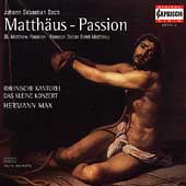 Bach: St Matthew Passion / Max, Frimmer, Winter, et al
