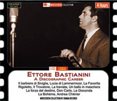 Baritone Ettore Bastianini: A Discographic Career - arias and duest from Barber of Seville, Lucia; Rigoletto; Trovatore et al. / Del Monaco, Tebaldi, Bergonzi, Di Stefano