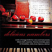 Greg Smith (1931-2016): Peter Quince at the Clavier; Double Sonata; Fallen Angels / Eileen Clark, soprano; Thomas Schmidt, piano; Ari Streisfeld, violin; Evan Ziporyn, clarinet