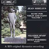 Sibelius: Music for Violin & Piano Vol 1 / Sparf, Forsberg