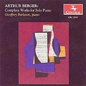 Berger: Complete Works for Solo Piano / Geoffrey Burleson