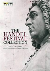The Handel Festival Collection: Admeto (live, 2006); Teseo (live, 2004); Tamerlano (live, 2001) Bonus: Barockstar (documentary) / Tim Mead, Thomas Randle, Elisabeth Noberg, et al. [4 DVD + 2 CD]