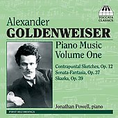Goldenweiser: Piano Music Vol 1 / Jonathan Powell
