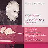 Mahler: Symphony no 2 / Walter, Forrester, Stader, et al