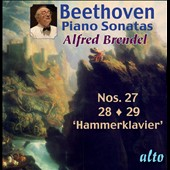 Beethoven: Piano Sonatas Nos. 27-29 / Alfred Brendel, piano