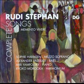 Rudi Stephan: Complete Songs / Sophie Harmsen, mezzo sorprano; Alexander Vassisiev, bass; Miri Yampolsky, piano