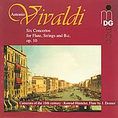 Vivaldi: Six Flute Concertos Opus 10 / Konrad Hunteler, et al