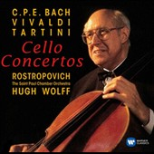 C.P.E. Bach: Celo Concerto Wq171; Vivaldi: Cello Concerto RV 406; Tartini: Cello Concerto with 2 horns in D major / Mstislav Rostropovich, cello