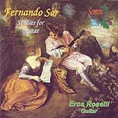 Sor: Etudes for Guitar / Eros Roselli