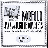 Norfolk Jazz & Jubilee Quartet: Complete Recorded Works, Vol. 5 (1929-1937)