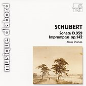 Schubert: Sonate D 959, Impromptus Op 142 / Alain Plan&egrave;s