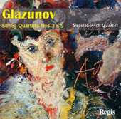Glazunov: String Quartets no 3 & 5, etc
