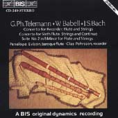 Bach, Telemann, Babell: Flute & Recorder Concertos / Evison