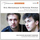 Works for Viola and Piano by Beethoven, Pärt and Shostakovich / Nils Monkemeyer, viola; Nicholas Rimmer, piano