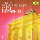 Great Symphonies with The Berlin Philharmonic - Beethoven: Nos. 5 & 7; Bruckner: No. 7; Dvorak: No. 9; Franck: D Minor; Mahler: No. 5; Mendelssohn: Nos. 4 & 5; Saint-Saens: No. 3; Tchaikovsky: No. 6