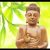 Niall: Greeting Card: Buddha Music 1