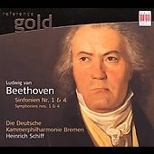 Beethoven: Sinfonien no 1 & 4 / Heinrich Schiff, et al