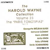 The Harold Wayne Collection Vol 23 - The Paris Fonotipias 3
