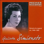 Portrait of a Legend - 17 arias from Mignon, La Cenerentola, Barber of Seville et al. / Giulietta Simionato, mezzo-soprano (mono)