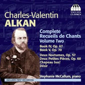 Charles-Valentin Alkan: Complete Recueils de Chants, Vol. 2 / Stephanie McCallum, piano
