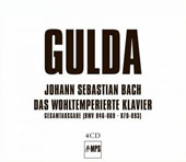 J.S. Bach: The Well-Tempered Clavier, Books 1 & 2 / Friederich Gulda, piano [4 CDs]