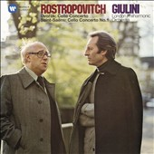 Dvorak: Cello Concerto; Saint-Saens: Cello Concerto No. 1 / Mstislav Rostropovich, cello; Carlo Maria Giulini, London Philharmonic Orchestra