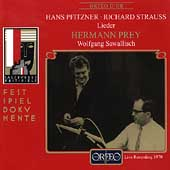 Pfitzner, R. Strauss: Lieder / Hermann Prey, Sawallisch