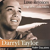 Love Rejoices - H. Leslie Adams: Songs / Taylor, Guy