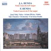 J.A. Benda: Viola Concerto;  F. Benda: Violin Concerto / Suk
