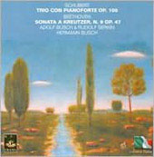 Schubert: Piano Trio;  Beethoven: Sonata for Violin & Piano  / Busch, Serkin, et al