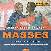 Bach: Masses BWV 233, 234, 235 & 236 / Rilling, Speiser, Russ, Faulstich, Stampfli, et al