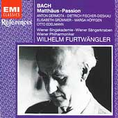 References - Bach: Matth&auml;us-Passion / Wilhelm Furtw&auml;ngler