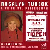 Rosalyn Tureck Live in St. Petersburg - An All Bach Recital